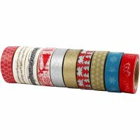 Washi Tape, christmas, W: 15 mm, 10x10 m/ 1 pack