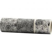 Washi Tape, W: 50 mm, 3x5 m/ 1 pack