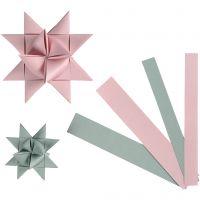 Paper Star Strips, W: 15+25 mm, D: 6,5+11,5 cm, 60 strips/ 1 pack