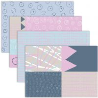 Decoupage Paper, 25x35 cm, 17 g, 4x2 sheet/ 1 pack