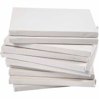 Stretched Canvas, depth 1,6 cm, A3, size 29,7x42 cm, 280 g, white, 40 pc/ 1 pack