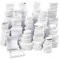 Boxes, D: 5,5-16 cm, white, 168 asstd./ 1 box