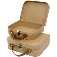 Suitcases, size 25,5x20x8 cm, 2 pc/ 1 set