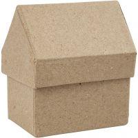 House, H: 10,5 cm, size 6x8,5 cm, 4 pc/ 1 pack