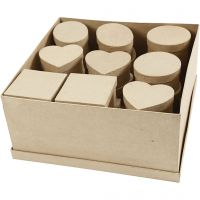 Medium boxes, H: 5 cm, D: 10-12 cm, 28 pc/ 1 pack