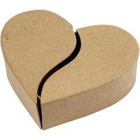 Heart-shaped Box, H: 5 cm, D: 16,5 cm, 1 pc