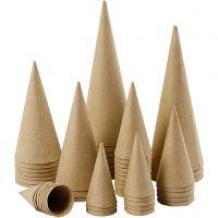 Cone, H: 8-20 cm, D: 4-8 cm, 50 pc/ 1 pack