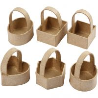 Mini basket, H: 6,5 cm, size 4,5x4,5 cm, 6 pc/ 1 pack