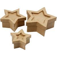 Star box, size 15x15x6 cm, 3 pc/ 1 set