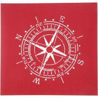 Screen Stencils, compass, 20x22 cm, 1 sheet