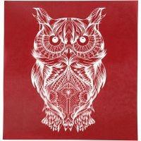 Screen Stencils, owl, 20x22 cm, 1 sheet