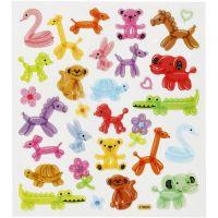 Stickers, balloon animals, 15x16,5 cm, 1 sheet