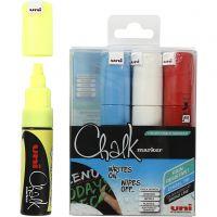 Chalk Pen, line 8 mm, assorted colours, 4 pc/ 1 pack