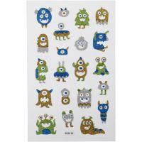 Glitter Stickers, 10x16 cm, 1 sheet