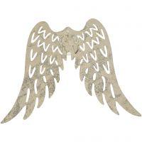 Metal Wings, H: 6 cm, W: 7,5 cm, 30 pc/ 1 pack