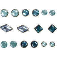 Deco Rivets, size 8-18 mm, blue, 16 pc/ 1 pack