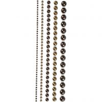 Half Pearls, size 2-8 mm, brown, 140 pc/ 1 pack