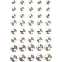 Rhinestones, size 6+8+10 mm, crystal, 40 pc/ 1 pack