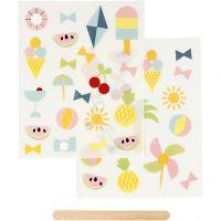 Rub-on Sticker, holiday, 12,2x15,3 cm, 1 pack