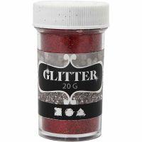 Glitter, red, 20 g/ 1 tub