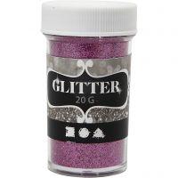 Glitter, pink, 20 g/ 1 tub