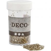Glitter, size 1-3 mm, gold, 30 g/ 1 tub