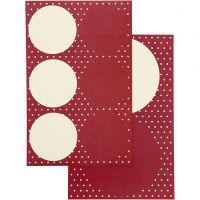 Stickers, D: 4+6,5 cm, 9x14 cm, 4 ass sheets/ 1 pack