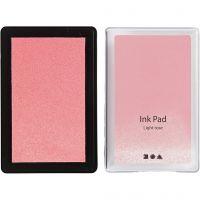 Ink Pad, H: 2 cm, size 9x6 cm, light rose, 1 pc