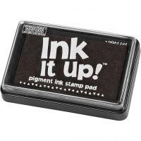 Ink Pad, size 6,3x9,5 cm, black, 1 pc