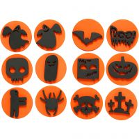 Foam Stamps, halloween, D: 7,5 cm, thickness 2,5 cm, 6 pc/ 1 pack