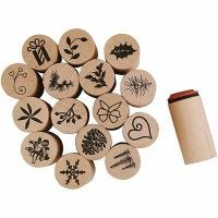 Deco Art Stamps, Christmas, H: 26 mm, D: 20 mm, 15 pc/ 1 pack
