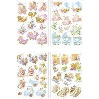 3D Decoupage Motifs, baby , 21x30 cm, 4 sheet/ 1 pack