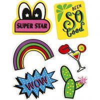 Soft Stickers, Super Star, 12,2x17,75 cm, 1 sheet