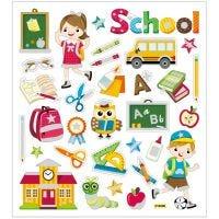 Stickers, school, 15x16,5 cm, 1 sheet