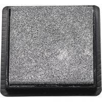 Ink Pad, size 40x40 mm, silver, 1 pc