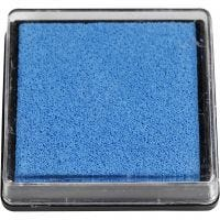 Ink Pad, size 40x40 mm, light blue, 1 pc