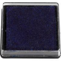 Ink Pad, size 40x40 mm, dark blue, 1 pc