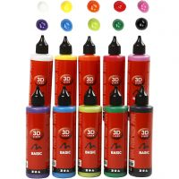 3D Liner, assorted colours, 10x100 ml/ 1 pack