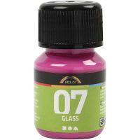 A-Color Glass Paint, pink, 30 ml/ 1 bottle