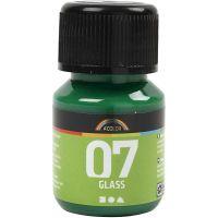 A-Color Glass Paint, brilliant green, 30 ml/ 1 bottle