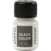 Glass Color Transparent, white, 30 ml/ 1 bottle