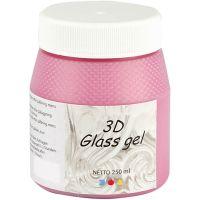 3D Glass Gel, pink, 250 ml/ 1 tub