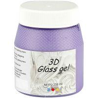 3D Glass Gel, lilac, 250 ml/ 1 tub