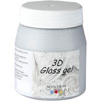3D Glass Gel, silver, 250 ml/ 1 tub
