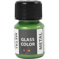 Glass Color Metal, green, 30 ml/ 1 bottle