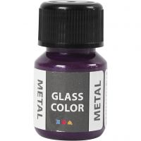Glass Color Metal, purple, 30 ml/ 1 bottle