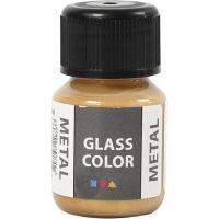Glass Color Metal, gold, 30 ml/ 1 bottle