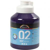 School acrylic paint matte, matt, violet, 500 ml/ 1 bottle