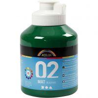 School acrylic paint matte, matt, dark green, 500 ml/ 1 bottle