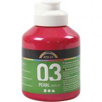 Skole akrylmaling metallic, metallic, pink, 500 ml/ 1 bottle